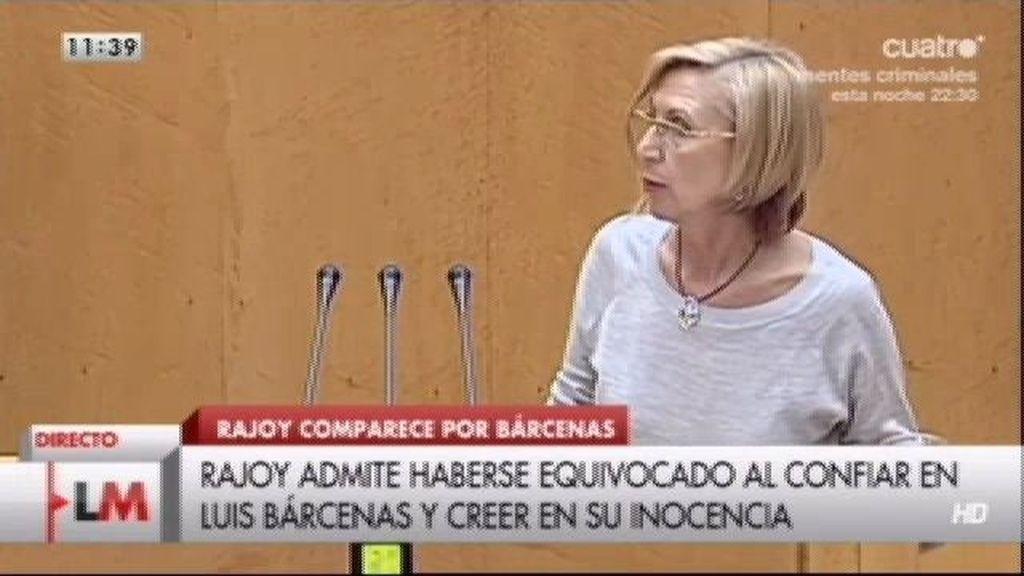 """Rosa Díez: """"Reconocer un error tan grave debe tener consecuencias"""""""