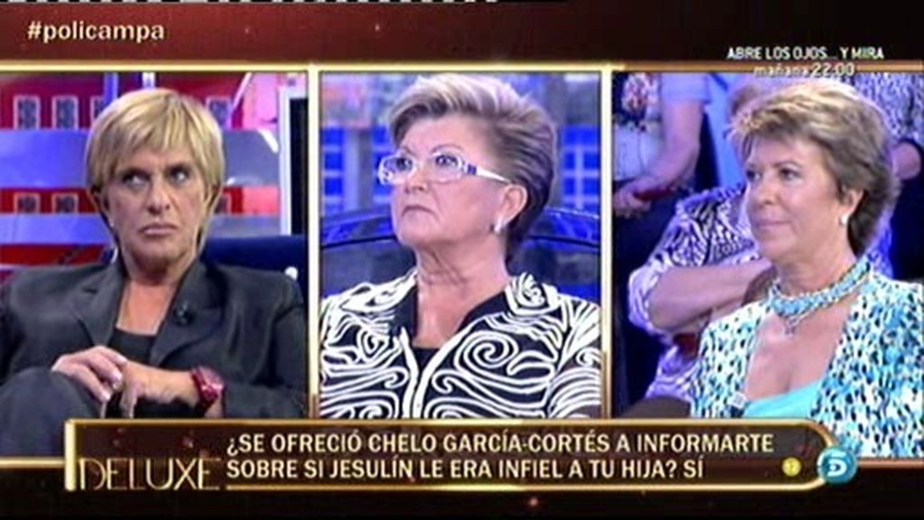 Chelo Gª Cortés se ofreció a informar sobre si Jesulín le era infiel a su hija