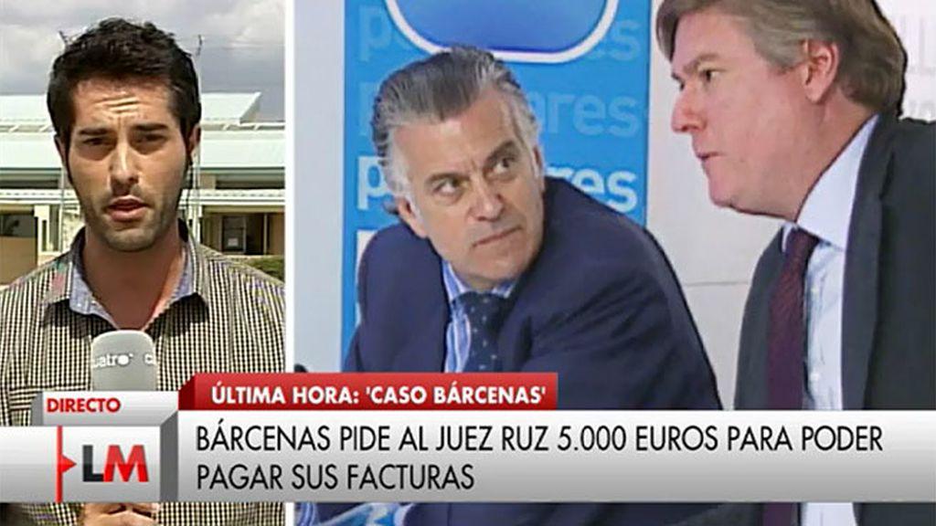 Luis Bárcenas pide al juez Ruz 5.000€ para pagar facturas