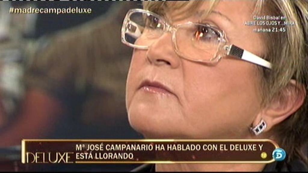 Mª José Campanario llora al ver a su madre en el programa
