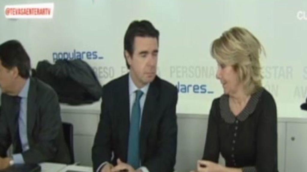 La reaccion del PP en la reunión del Comité Nacional ante el escándalo Bárcenas