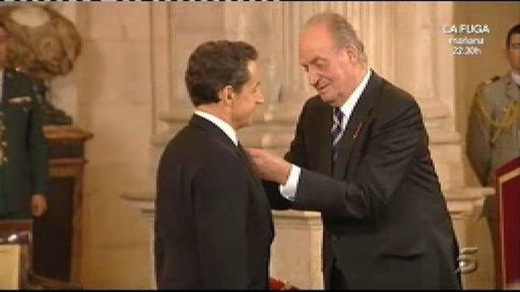 El Rey concede a Sarkozy el Toison de Oro
