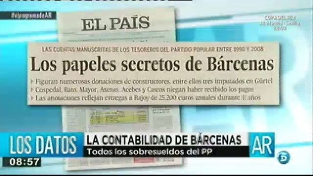 La contabilidad secreta de Bárcenas sale a la luz