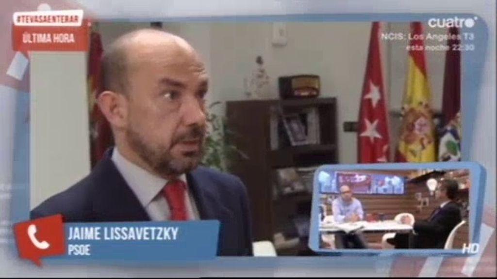 """Lissavetzky, sobre la dimisión de Villanueva: """"Es la crónica de una muerte anunciada"""""""