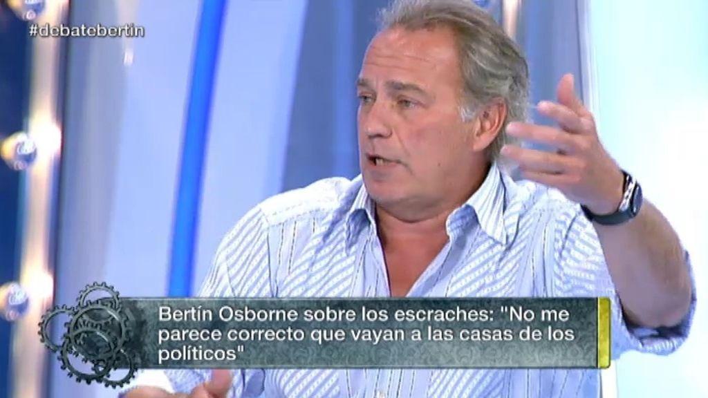 """Bertín Osborne, sobre Ada Colau: """"Estoy de acuerdo pero no con los escraches"""""""