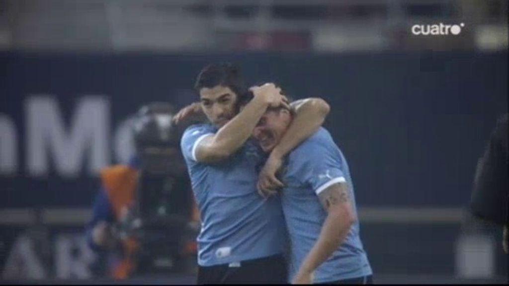 'Cebolla' Rodriguez pone el 1-1 para Uruguay