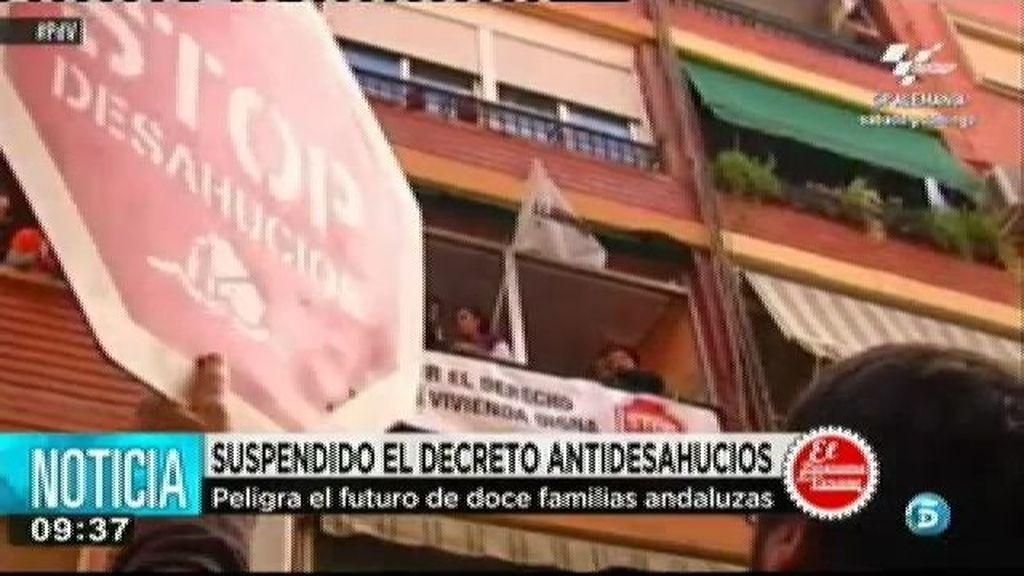 Se suspende el decreto antidesahucios de Andalucía