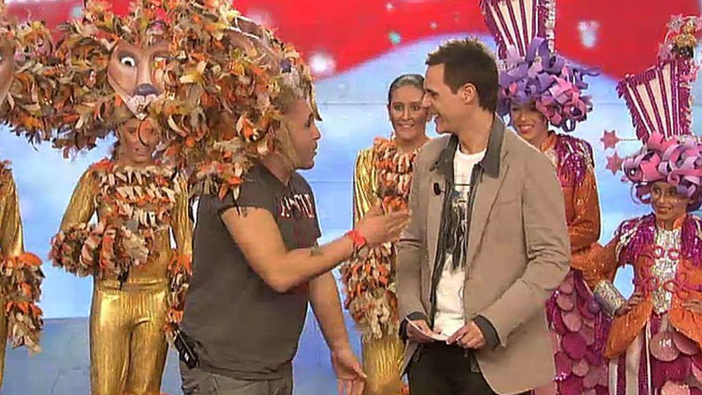 Kiko Rivera se disfraza del Rey León
