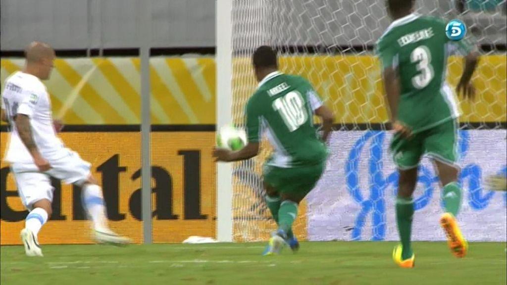 Gol: Nigeria 1-1 Uruguay (Min. 36)