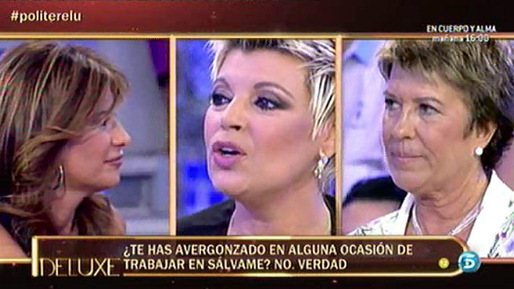 A Terelu Campos le can mal alguno de su compañeros, según el polígrafo