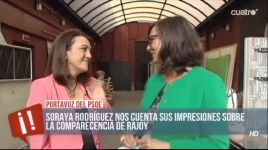 """Soraya Rodríguez: """"Rajoy no está en condiciones de representar a España"""""""