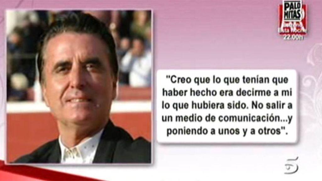 Ortega Cano, reproches familiares