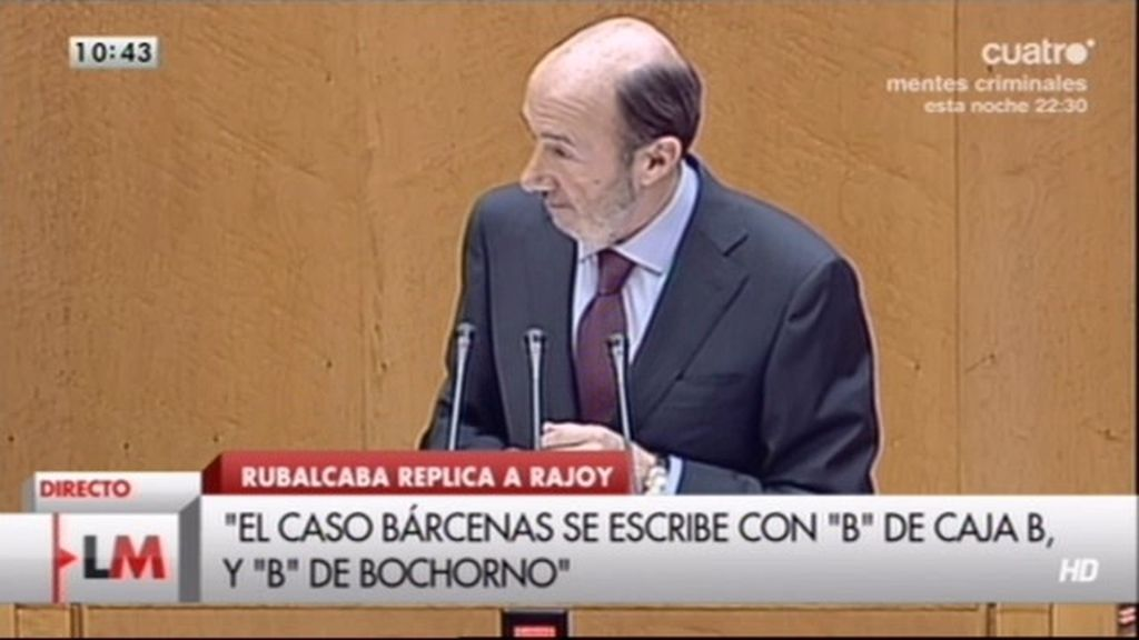 """Rubalcaba a Rajoy: """"Está haciendo daño a España, por eso le pido que se marche"""""""