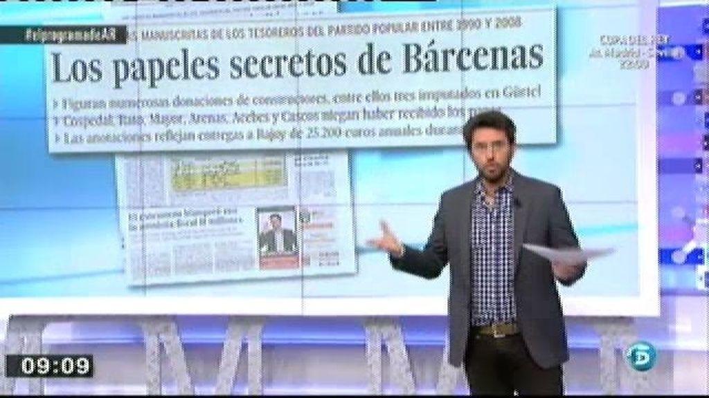 'El País' hace públicos los cuadernos que recogerían los pagos a dirigentes del PP