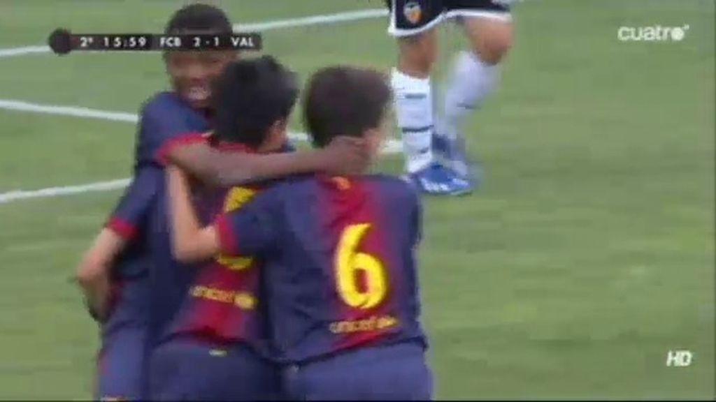 Gol: Barcelona 2-1 Valencia (min.36)