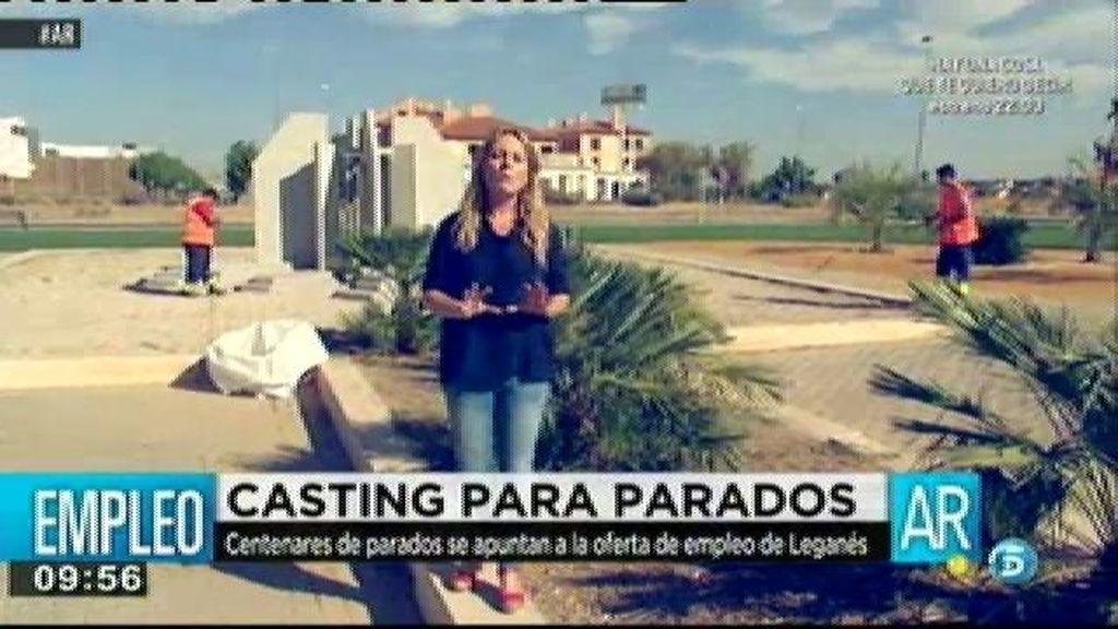 Casting de parados en Leganés