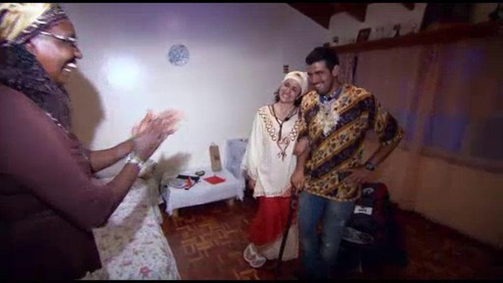 Inés y Pedro se visten de Keniatas