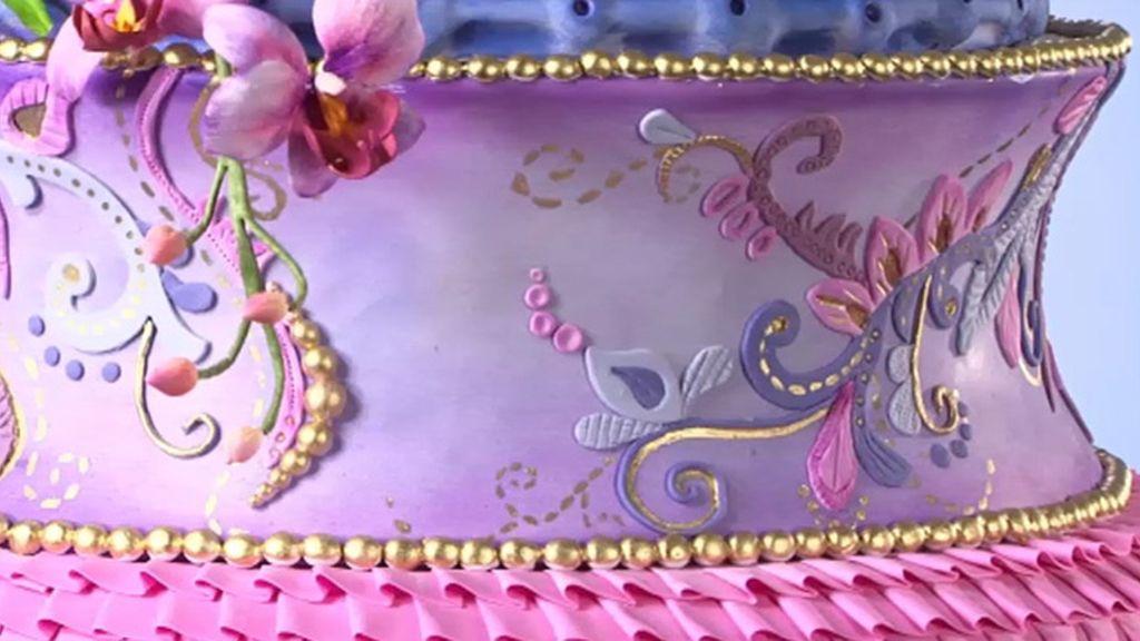 Tarta flor de loto, tarta amor entre bastidores y tarta cisne (T03xP10)