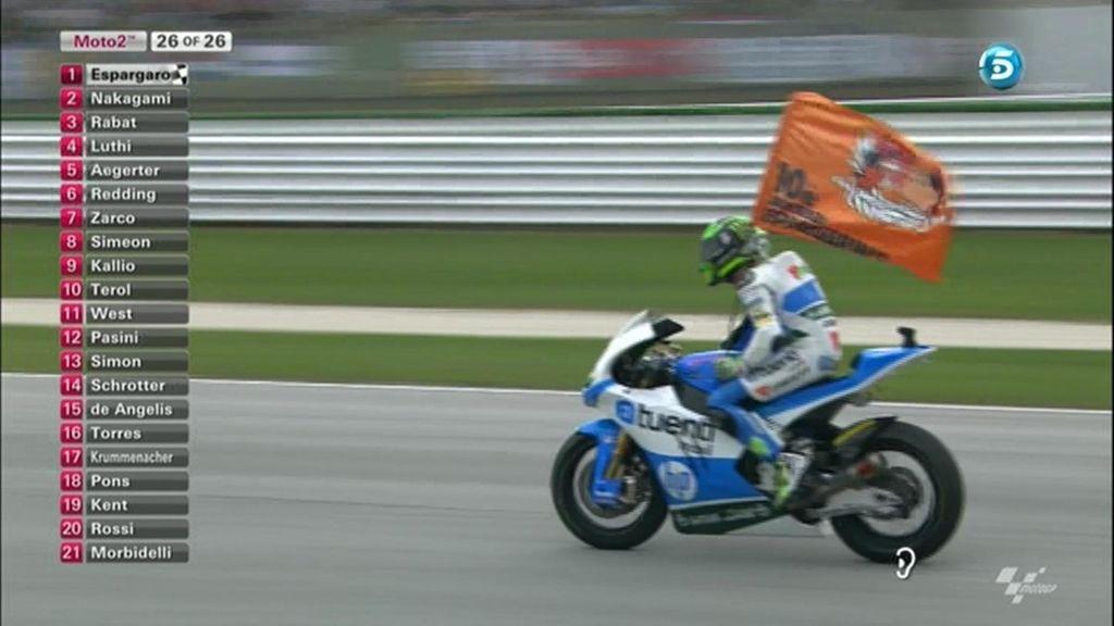 La última vuelta de Moto2 en Misano