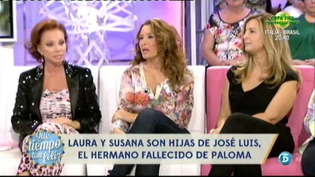 Laura y Susana sorprenden y emocionan a Paloma San Basilio