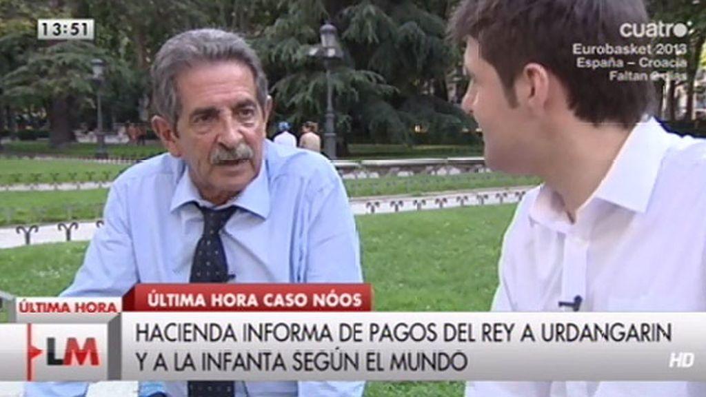"""Miguel Ángel Revilla: """"Nunca ha habido mayor riesgo de desmembración de España que ahora"""""""