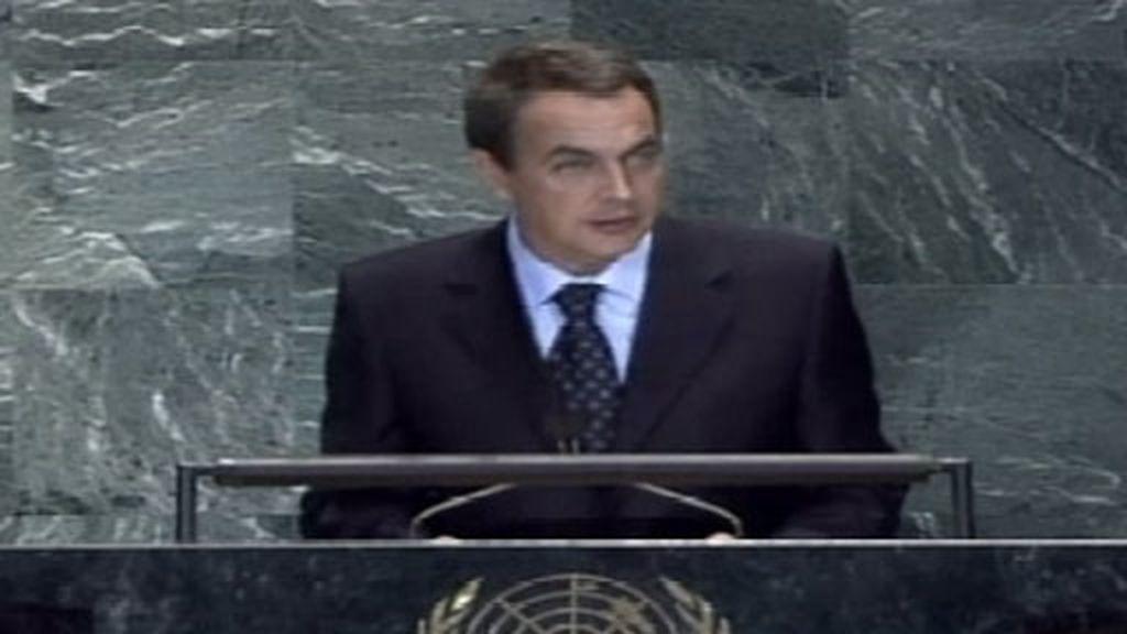 El debut de Zapatero en la ONU