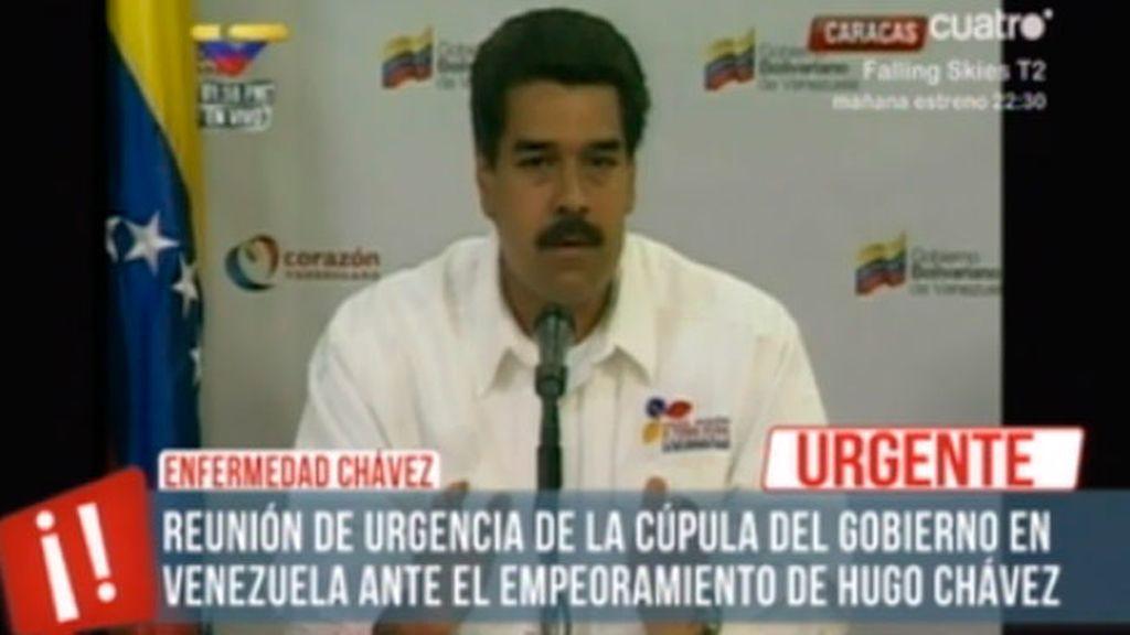 Momentos de incertidumbre después del empeoramiento de Hugo Chávez