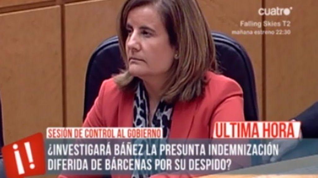 El rifirrafe de Fátima Báñez en la sesión de control del Senado