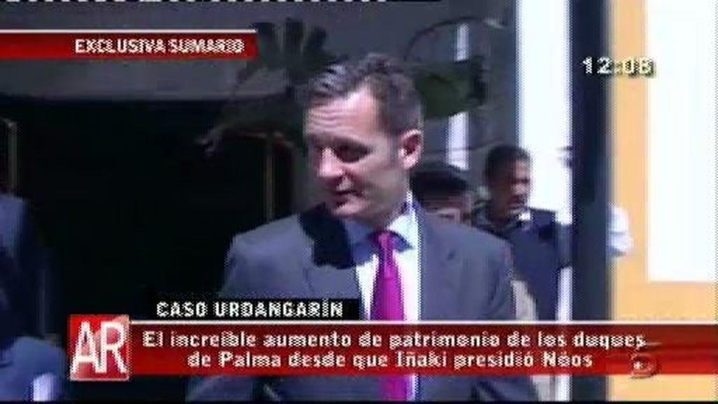El patrimonio de los Duques de Palma aumentó desde que Urdangarín presidió Nóos