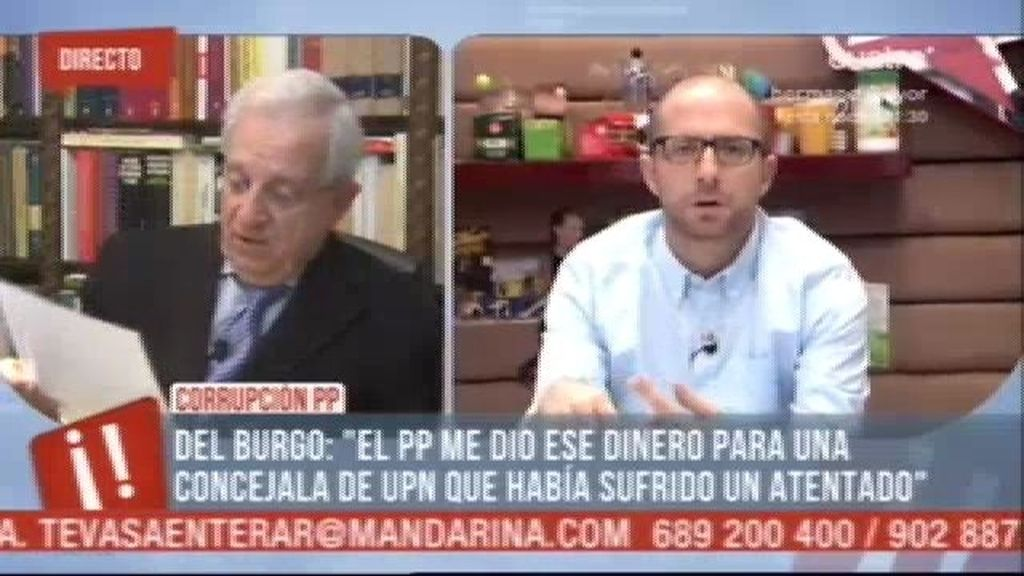 """Del Burgo: """"Yo sólo doy fe de lo que he visto"""""""