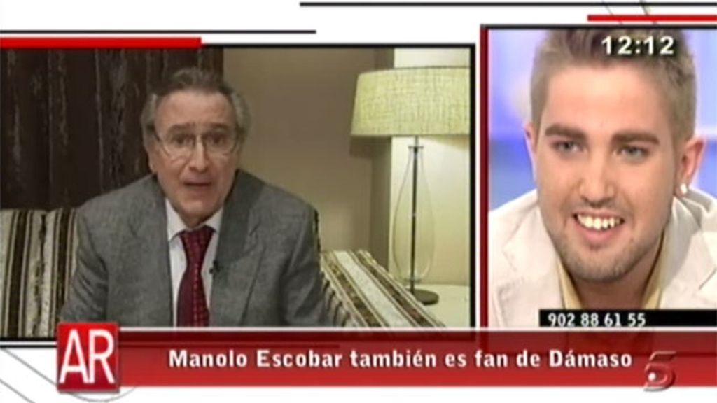 Manolo Escobar, fan de Dámaso