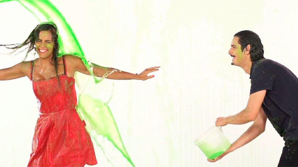 Pedroche y Antonio Pagudo, de verde