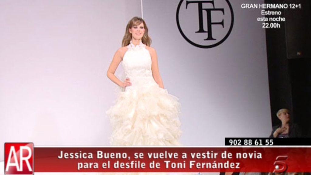 Jessica Bueno se viste de novia, otra vez