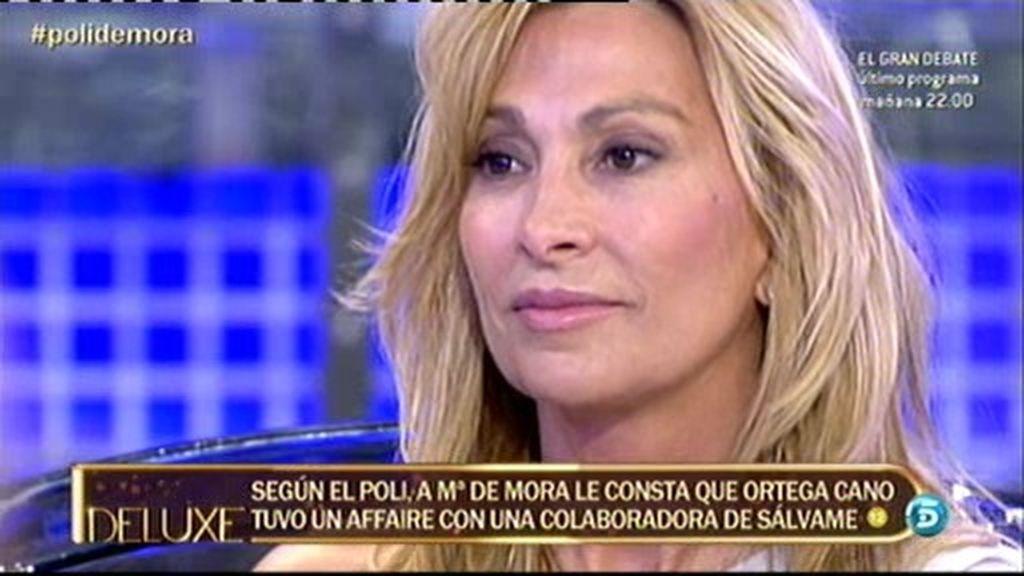 A María de Mora le consta que Ortega Cano tuvo un 'affaire' con una colaboradora