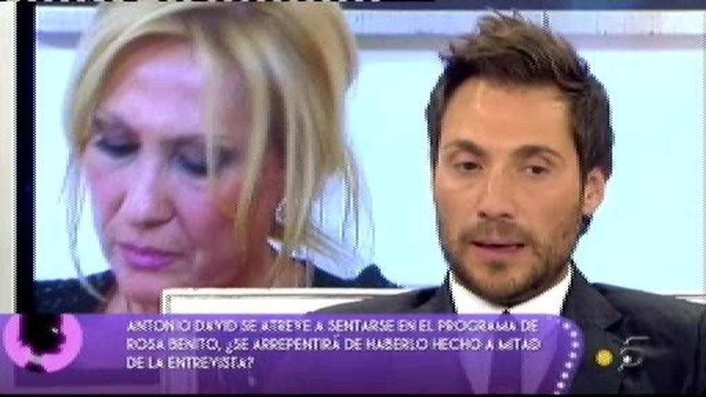 """Antonio David:""""No me he aprovechado de Rocío Carrasco para intentar ganar Acorralados"""""""