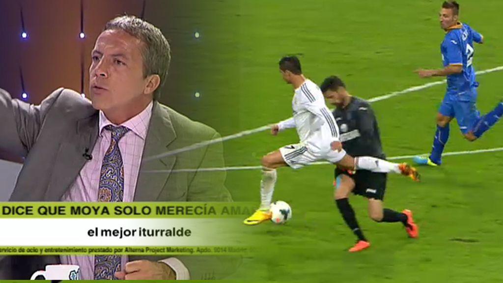 Soria se 'mosquea' por una jugada polémica a Cristiano Ronaldo