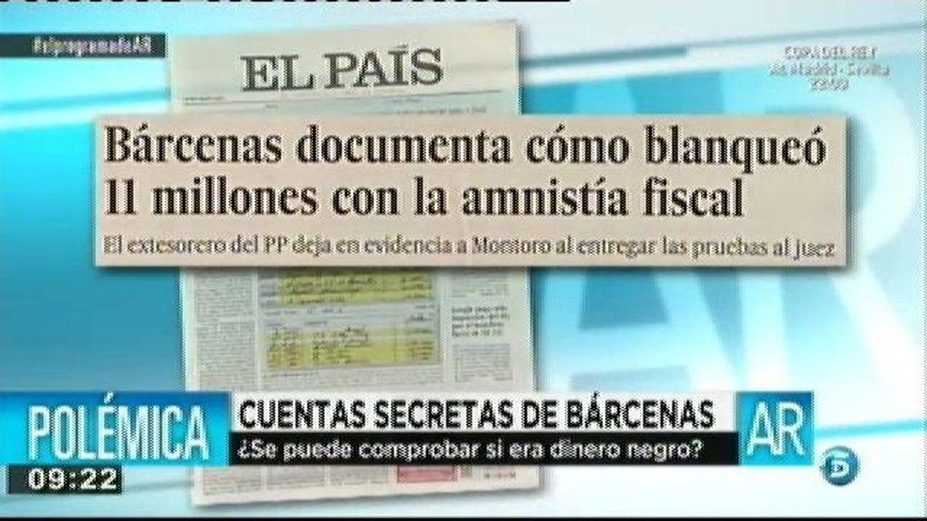 Bárcenas documenta como blanqueó 11 millones con la amnistía fiscal