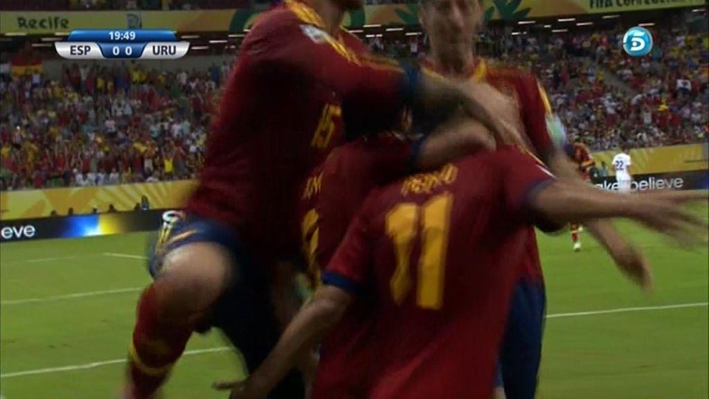 Gol de Pedro (España 1 - 0 Uruguay)