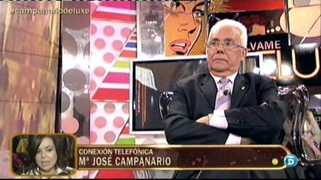 """Mª José Campanario, a su padre:  """"No tienes que defenderme de nadie"""""""