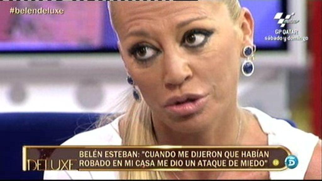 """Belén Esteban: """"Desde que han robado en mi casa tengo mucho miedo"""""""