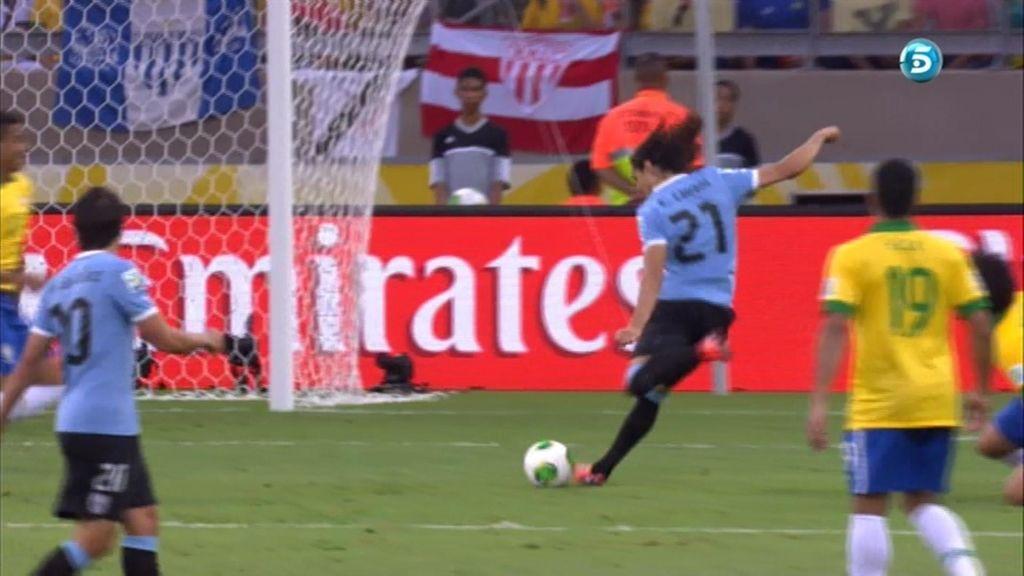 Gol: Brasil 1-1 Uruguay (min.48)