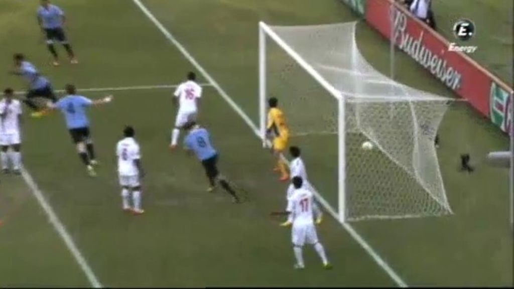 Gol: Uruguay 1-0 Tahití  (min.2)