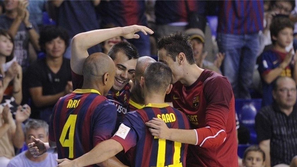El Barça gana al Jaén con una gran actuación de Lozano (5-0)