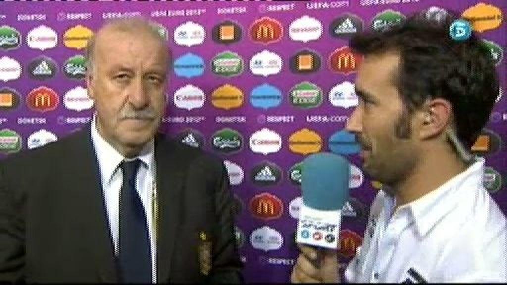 """Del Bosque: """"Hemos controlado el partido"""""""