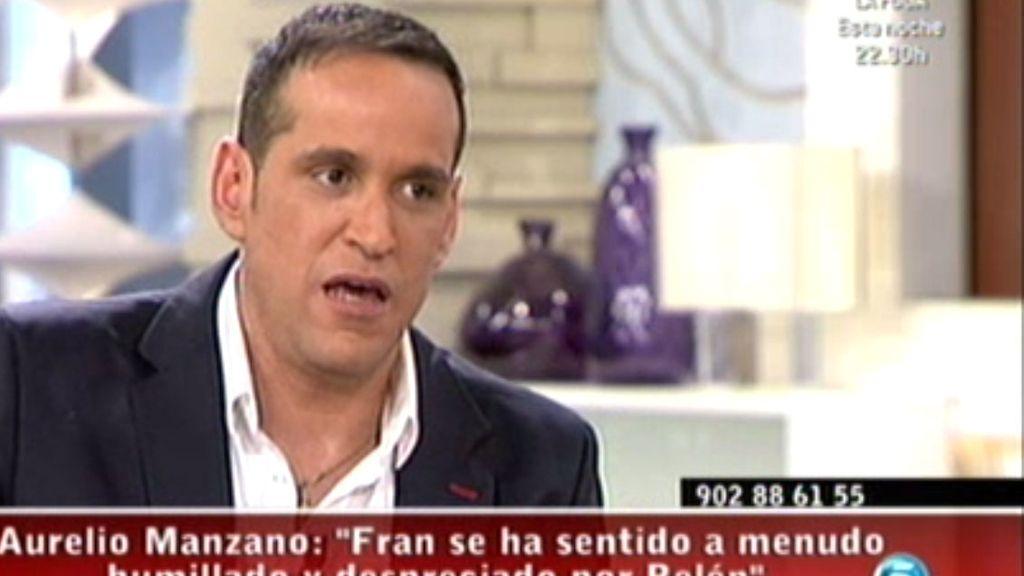 """Aurelio Manzano: """"Fran se ha sentido humillado muchas veces"""""""