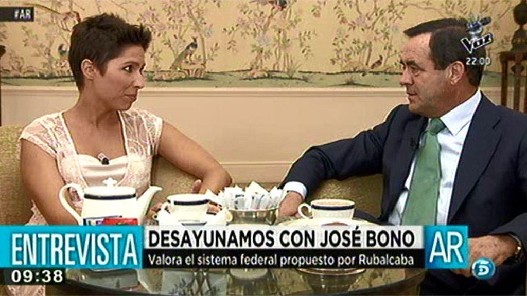 """José Bono: """"Susana Díaz, presidenta de Andalucía, puede ser la esperanza del PSOE"""""""