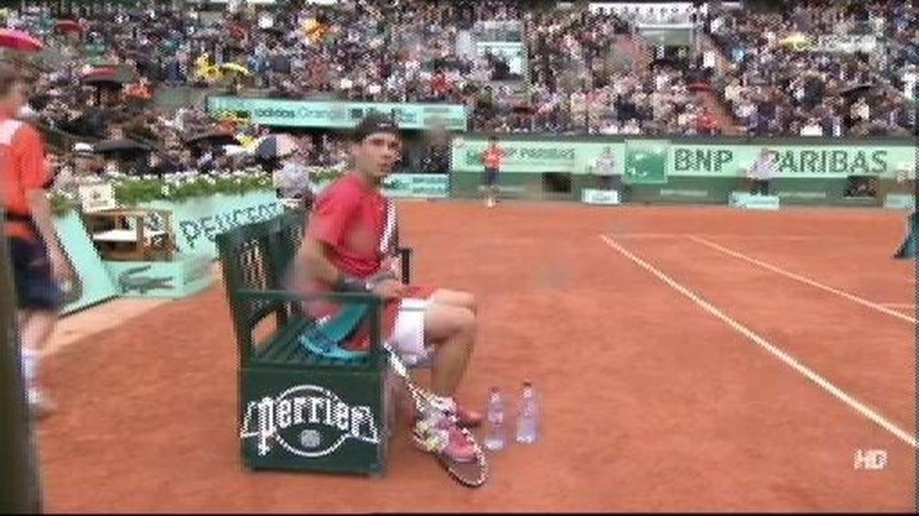 Nadal y Djokovic, 'molestos' con la lluvia