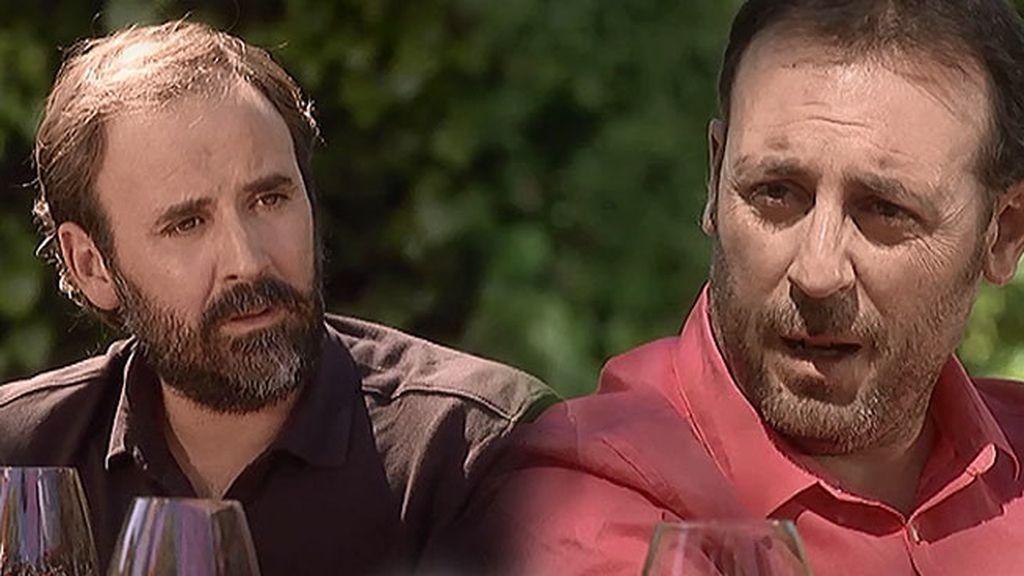 Marcos le cuenta a Fabián que su mujer murió en una avalancha