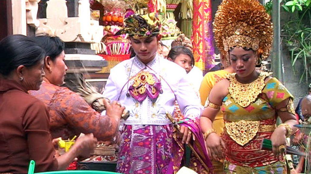 El encanto de casarse por el rito balinés
