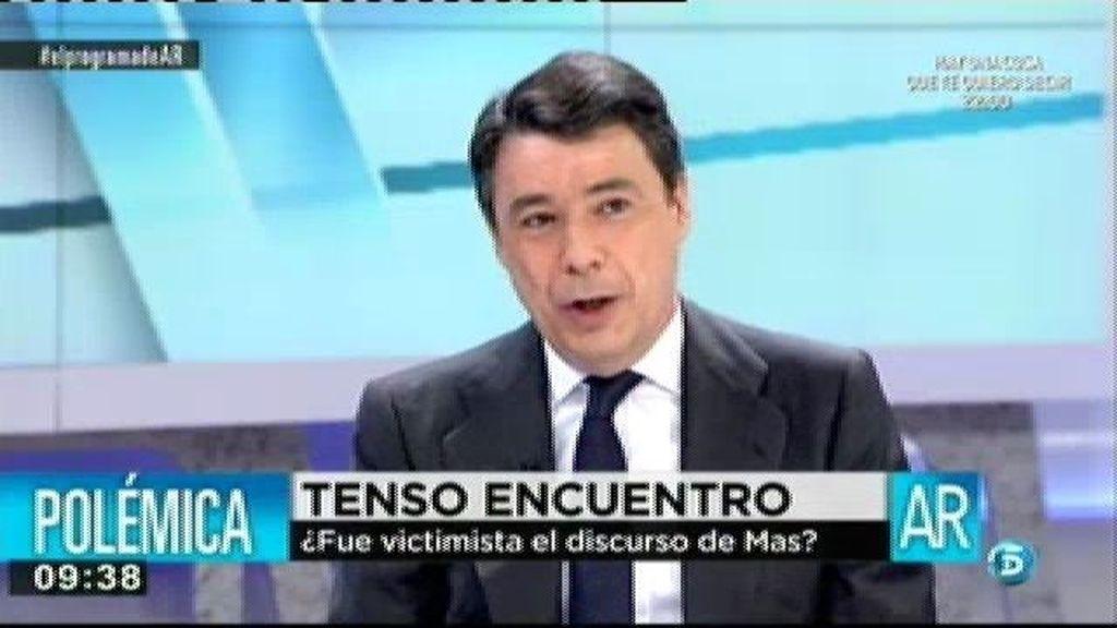"""Ignacio González: """"Me parece sorprendente que por un lado se pidan más inversiones estatales y por otro se pida la independencia"""""""
